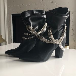 Forever 21 Chain Booties